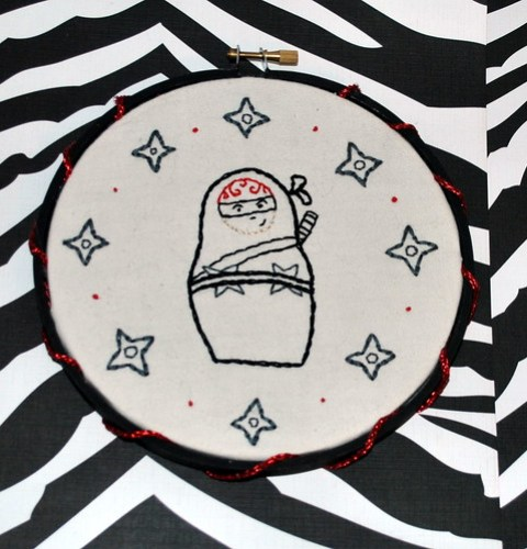 Ninja Matryoshka Embroidery