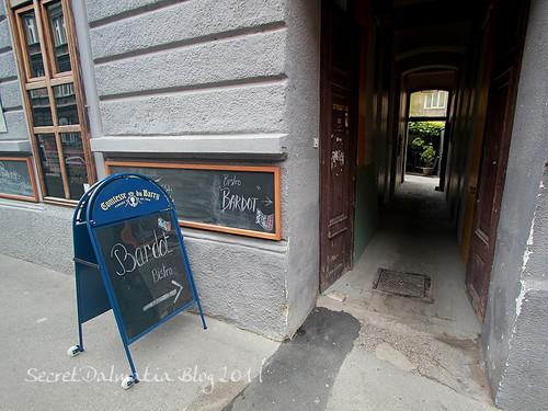 Follow the sign off main street
