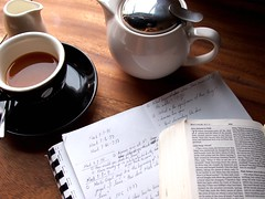 A pot of Toby's Estate Earl Grey and some work. Toby's Estate, 8 Rodyk Street, Robertson Quay