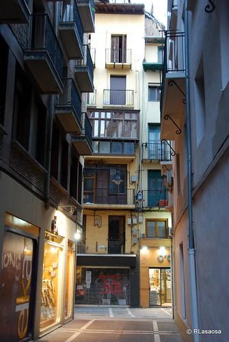 El comienzo de la calle Lindachiquia, con la calle Comedias al fondo...