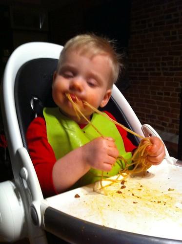 spaghetti feast.