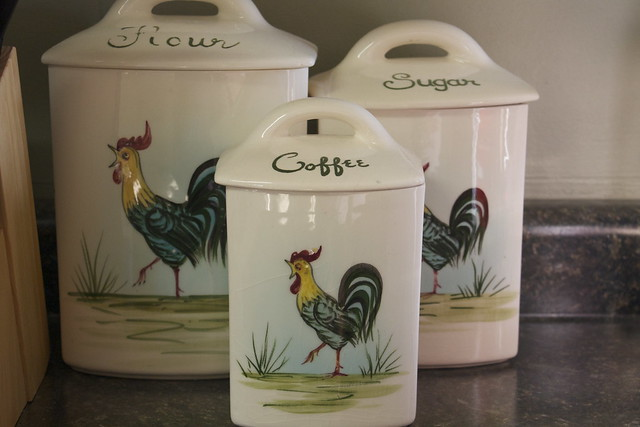 Vintage Rooster Canister Set Flickr Photo Sharing