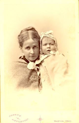 Henrietta (Peirce) Parrott with daughter Mary Edward Parrott, 1881