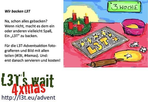Advent mit L3T: Wir backen