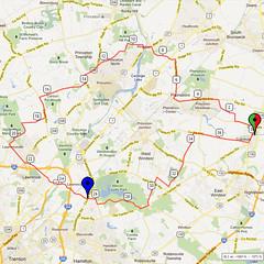 02. Bike Route Map. Cranbury NJ