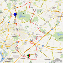 01. Bike Route Map. Hamilton Area YMCA, Crosswicks, NJ