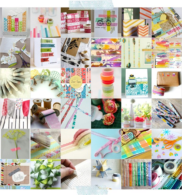 washi tape collage mel stampz