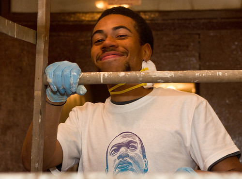 YouthBuild student on MLK Day of Service
