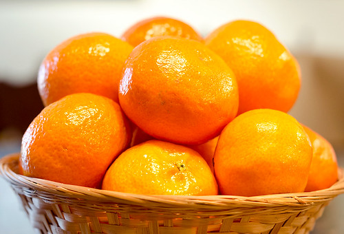 Clementines in a Basket