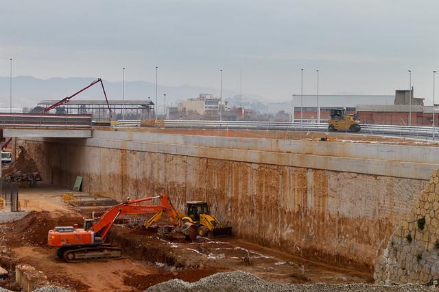 Trabajo finales en los accesos al nuevo puente - 27-01-12