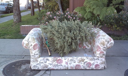 Festive Holiday couch  by Peggy Archer