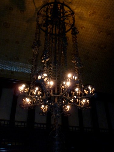 Lighting Fixture in Silver Room / Library