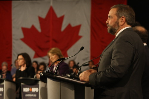 Thomas Mulcair at the first NDP debate