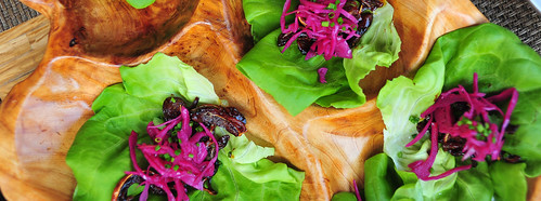2nd Course: Crispy Buffyaki Pig Ear Lettuce Wraps