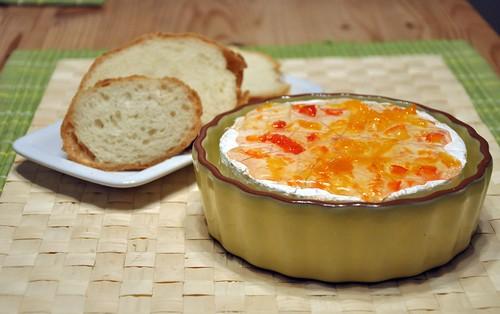 Brie mit Habanero Marmelade
