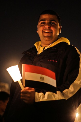 Smile for the future, candle for the martyrs and Egypt stands strong
