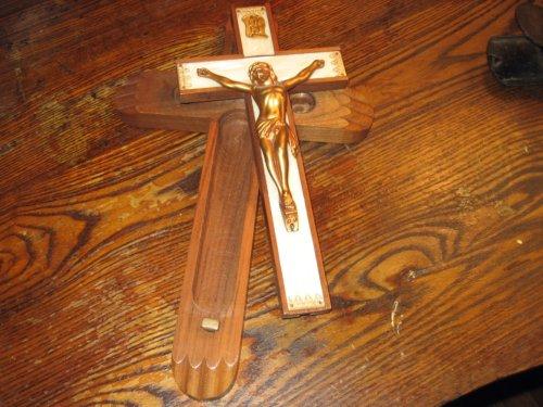 Crucifix stash box
