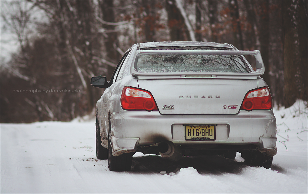 Subaru WRX STi in the snow