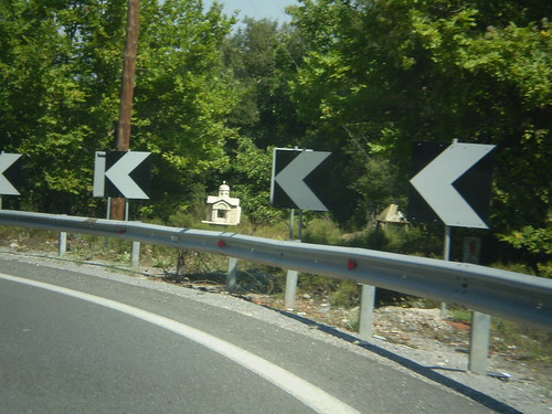 Roadside memorial in Greece