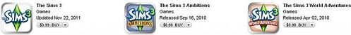 The Sims 3 iOS Sale