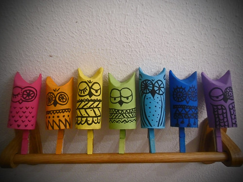 tp roll owl ornaments!