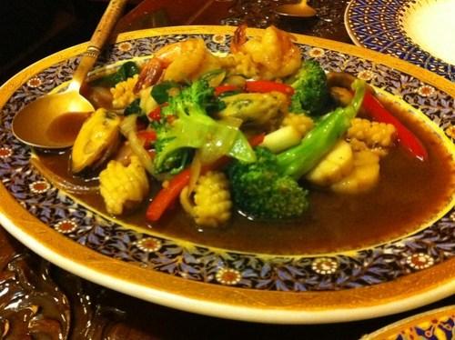Pad Ka Pow Seafood at Ploy Thai