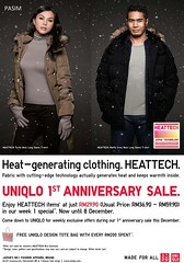 UNIQLO 1st Year Anniversary Promotion 2 - 29 Dec 2011