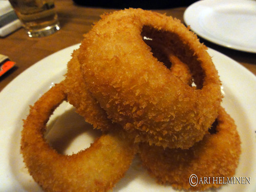 Onion rings at zest cantina Ebisu