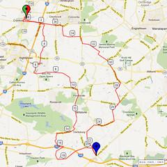 04. Bike Route Map. Cranbury NJ