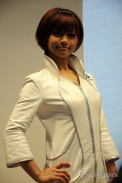 Japanese model at Tokyo Motor Show 2011, Odaiba Big Sight