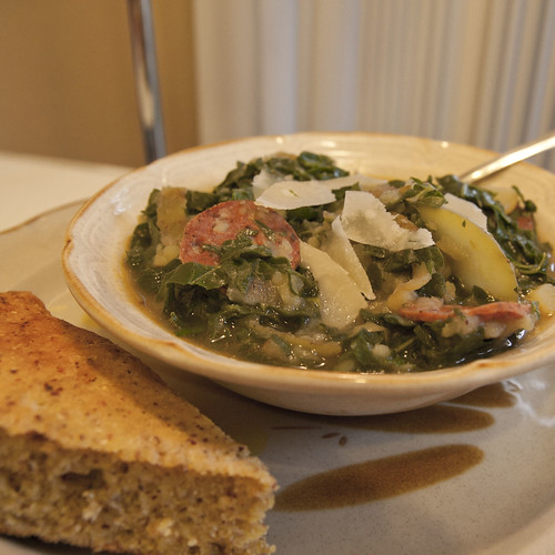Kale and Potato Soup with Chorizo (Caldo Verde)