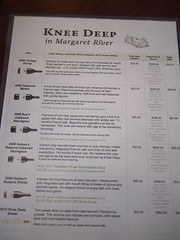 Knee Deep Wines Cellar Door Wine List and Prices