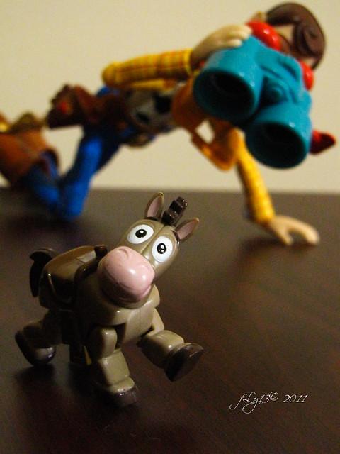 Revoltech Woody and mini Bulls-eye