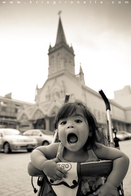 At the Church - Black & White