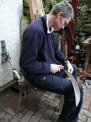 peening scythe blade