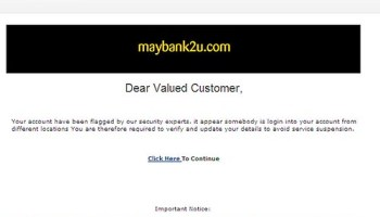 E-mail phishing MayBank
