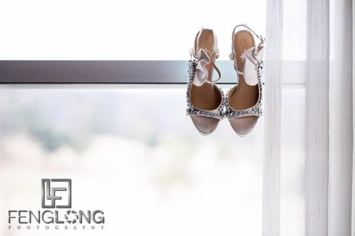 Wedding Shoes | Elizabeth & Greg's Wedding | Hilton Marietta Hotel & Transfiguration Catholic Church | Marietta Atlanta Wedding Photographer