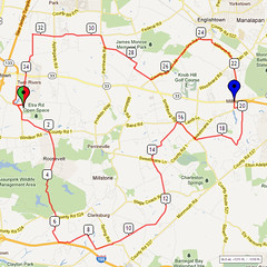 08. Bike Route Map. Etra Lake Park, Hightstown, NJ