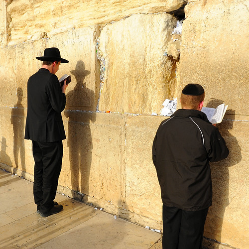 At the Western Wall in Jerusalem, Israel