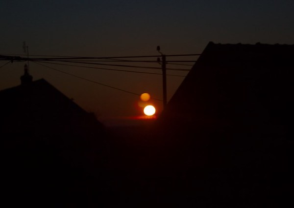 Levé de soleil sur Sennevoy le bas