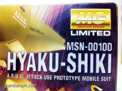 MG 1-100 Hyaku Shiki HD Color Limited Version Edition Gundam PH (22)
