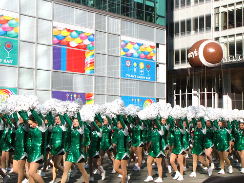 Cheerleaders at the 85th Macy's Thanksgiving Parade