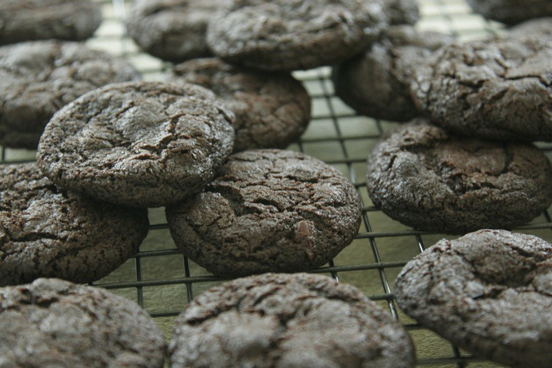Chocolate Cookies with Cocoa Nibs and Lime