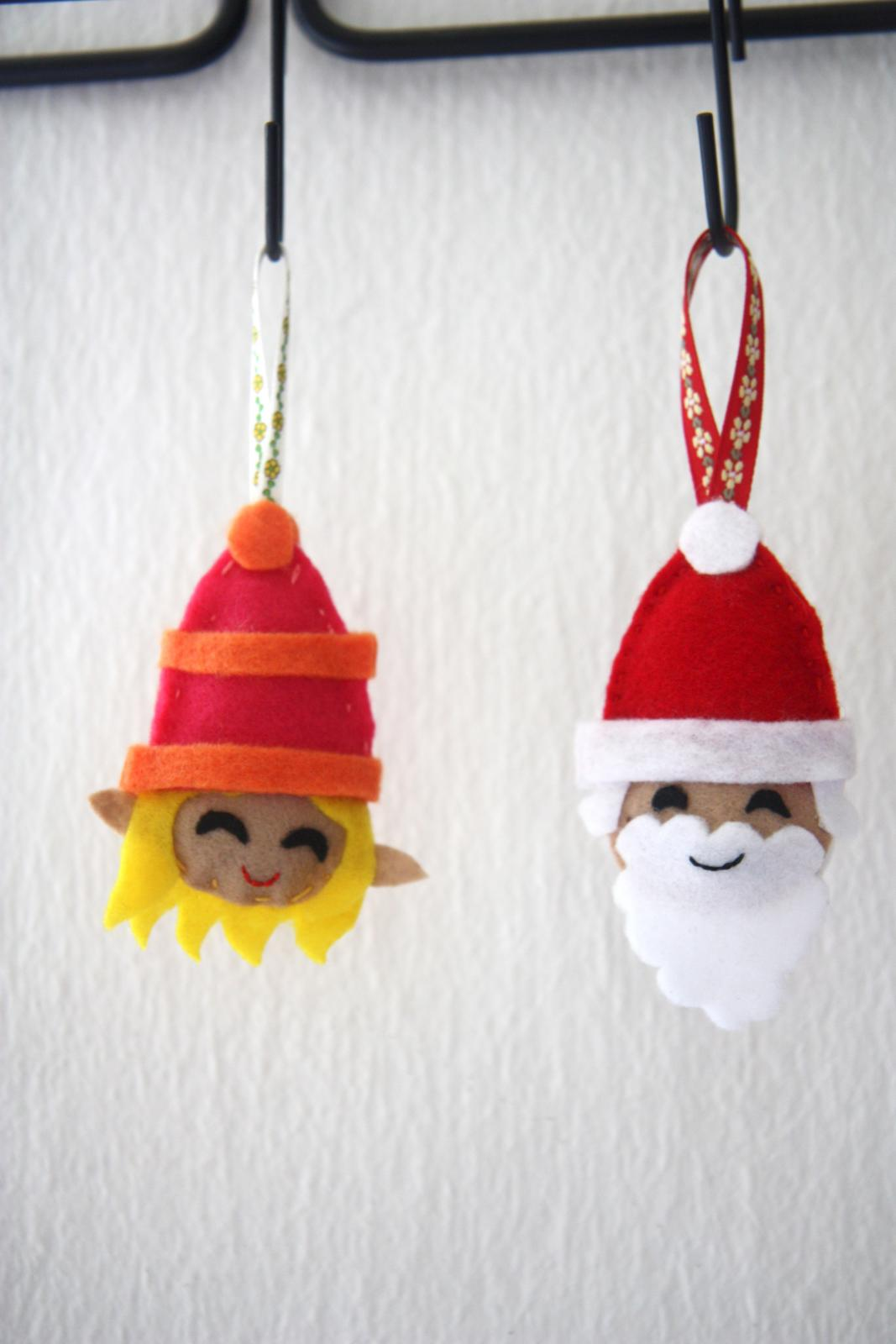 sewing felt xmas tree decoration