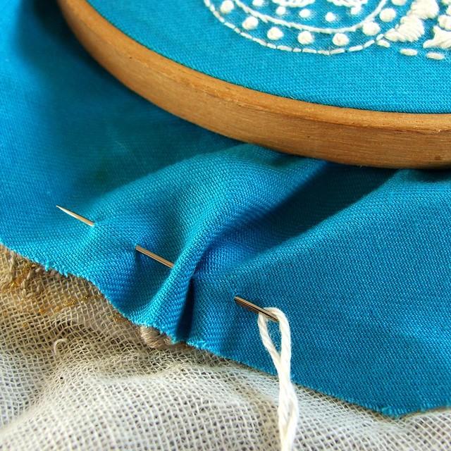 Embroidery hoop finishing