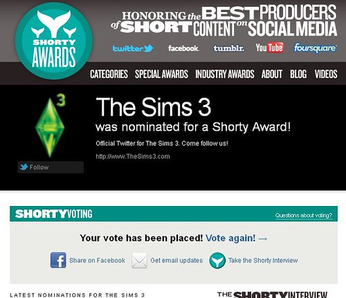 Time for The Shorty Awards... Again