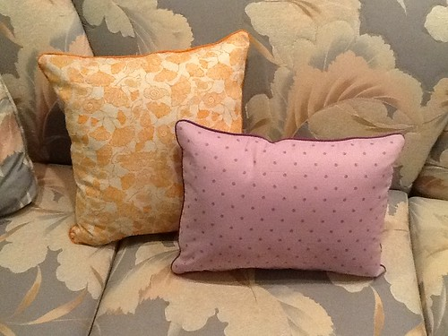 Backside of pillows