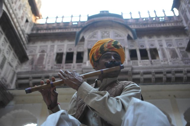 The Rajput flautist, Fort, Jodhpur