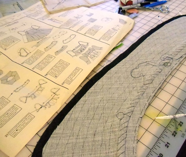 padstitching the undercollar