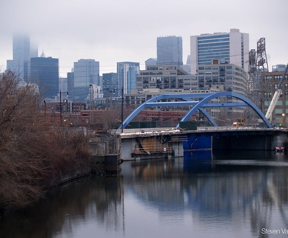 New bridge as seen from Division Street bridge